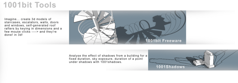 SketchUp PlugIn 1001Bit-Tools