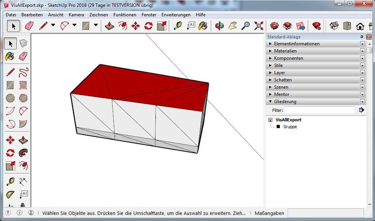 Gebäude 3D Modell VIS-ALL