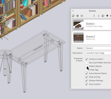 SketchUp Pro 2020.1 - Neue Funktionen im Maintenance Release: Schnittebenen und Szenen